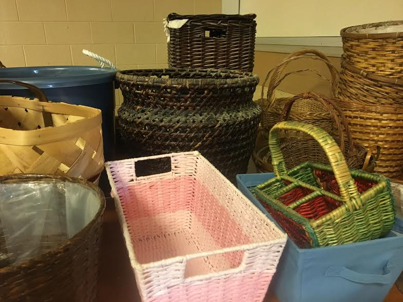 baskets at rummage sale