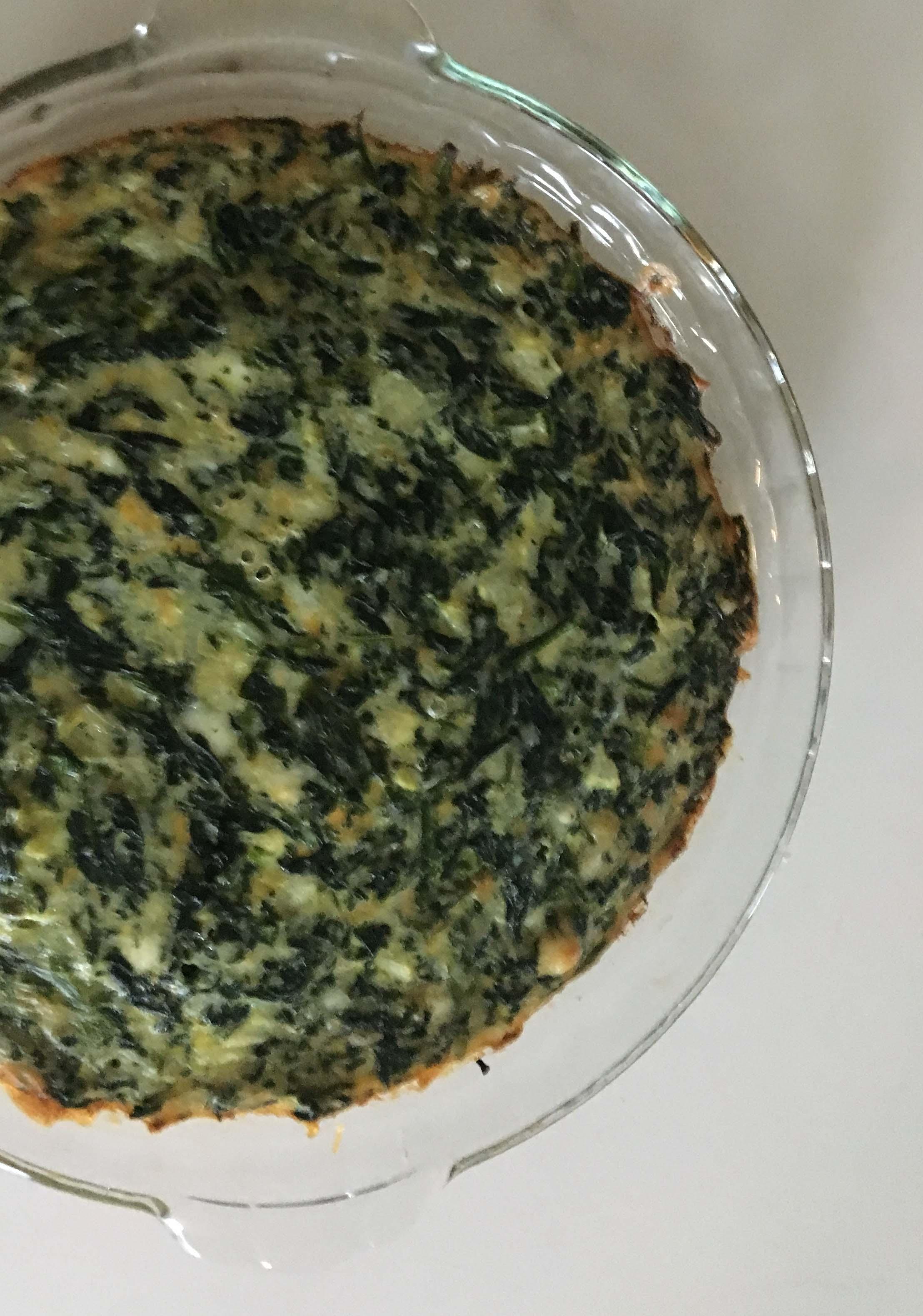 crustless spinach quiche_done