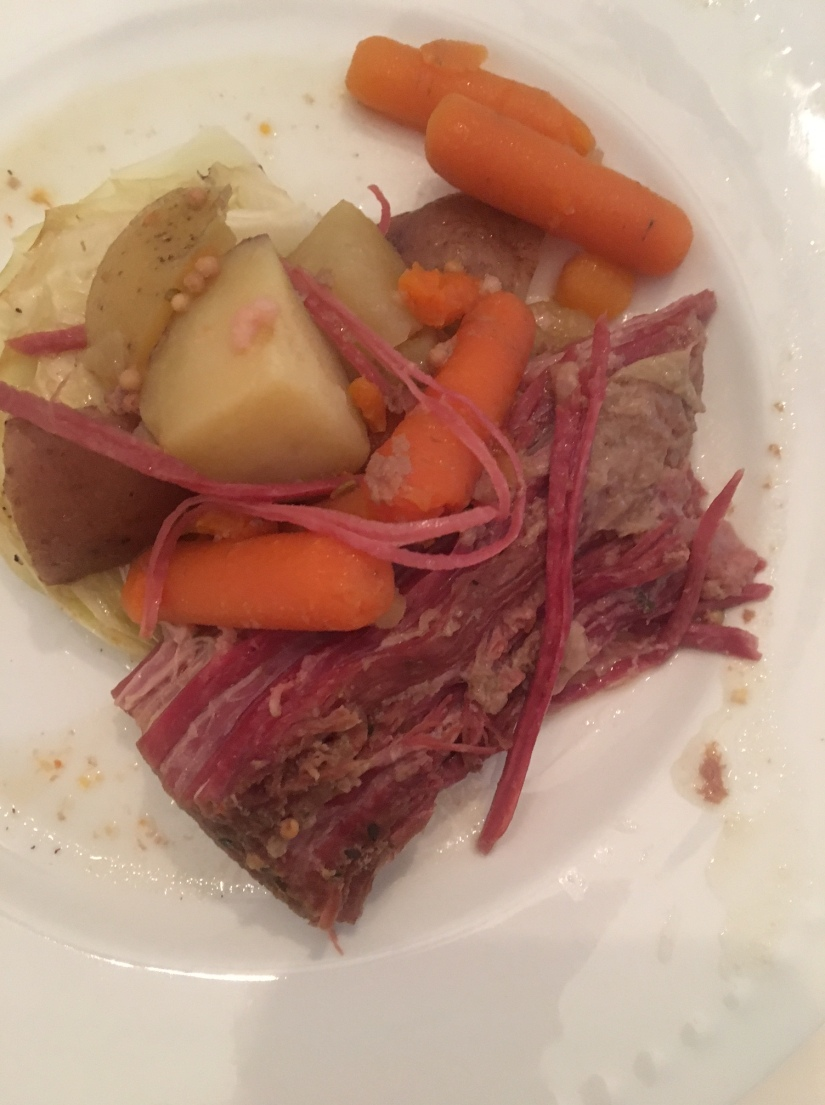 St. Patrick's Day meal_ corned beef and cabbage